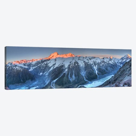 Sunrise On Mount Sefton And Mount Cook Above Hooker Valley, Mount Cook National Park, New Zealand Canvas Print #COL47} by Colin Monteath Canvas Wall Art