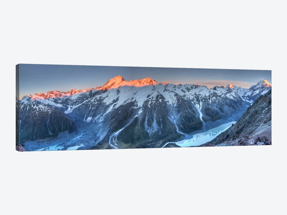 Sunrise On Mount Sefton And Mount Cook Above Hooker Valley, Mount Cook National Park, New Zealand by Colin Monteath 1-piece Art Print