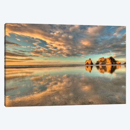 Archway Islands, Wharariki Beach Near Collingwood, Golden Bay, New Zealand Canvas Print #COL55} by Colin Monteath Art Print
