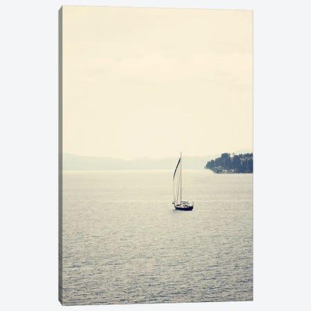Hazy Sea Canvas Print #COO27} by Sylvia Coomes Canvas Print