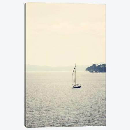 Hazy Sea Canvas Print #COO27} by Sylvia Coomes Canvas Print