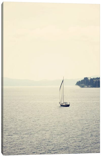 Hazy Sea Canvas Art Print