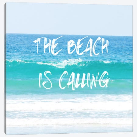 Beach Is Calling Canvas Print #COO28} by Sylvia Coomes Canvas Art