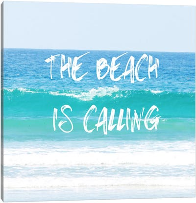 Beach Is Calling Canvas Art Print