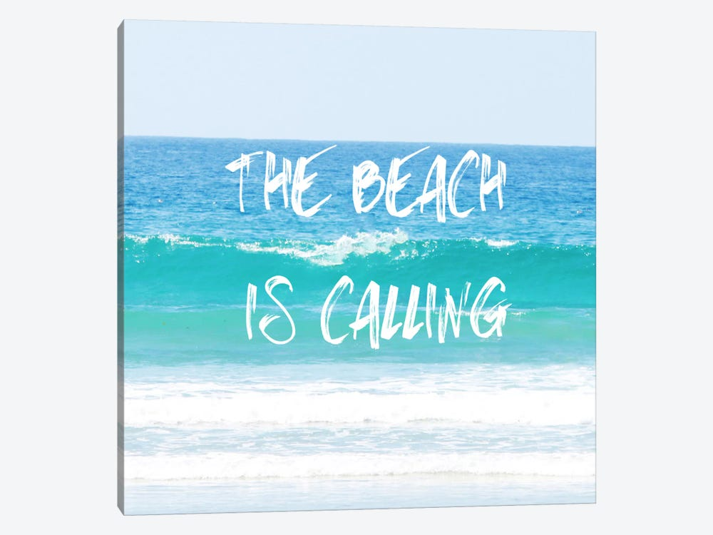 Beach Is Calling by Sylvia Coomes 1-piece Canvas Wall Art