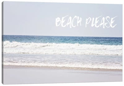 Beach Please Canvas Art Print