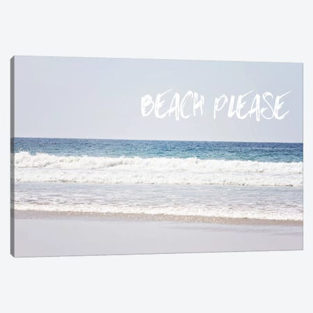 Beach Please Canvas Print #COO29} by Sylvia Coomes Canvas Art