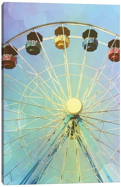Rainbow Ferris Wheel I Canvas Art Print