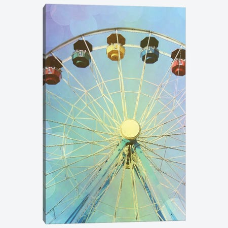 Rainbow Ferris Wheel I 3-Piece Canvas #COO34} by Sylvia Coomes Canvas Art