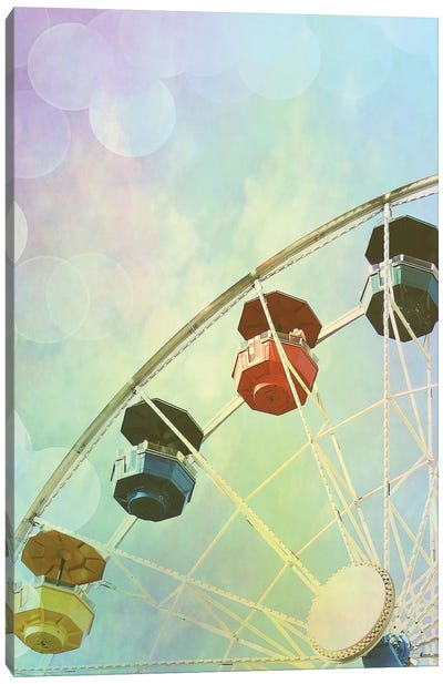 Rainbow Ferris Wheel II Canvas Art Print