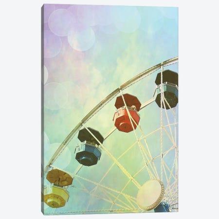 Rainbow Ferris Wheel II Canvas Print #COO35} by Sylvia Coomes Canvas Artwork