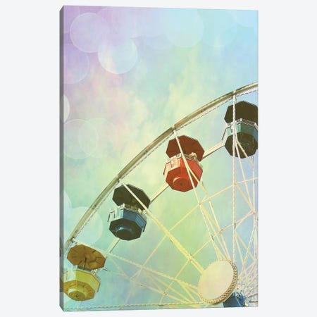 Rainbow Ferris Wheel II Canvas Print #COO35} by Sylvia Coomes Canvas Artwork