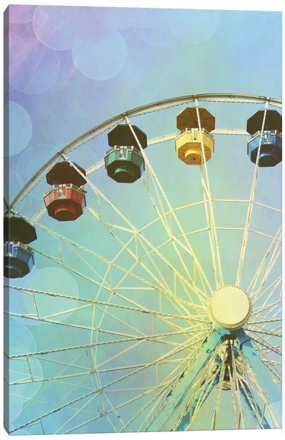 Rainbow Ferris Wheel III Canvas Art Print