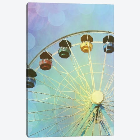Rainbow Ferris Wheel III 3-Piece Canvas #COO36} by Sylvia Coomes Canvas Art