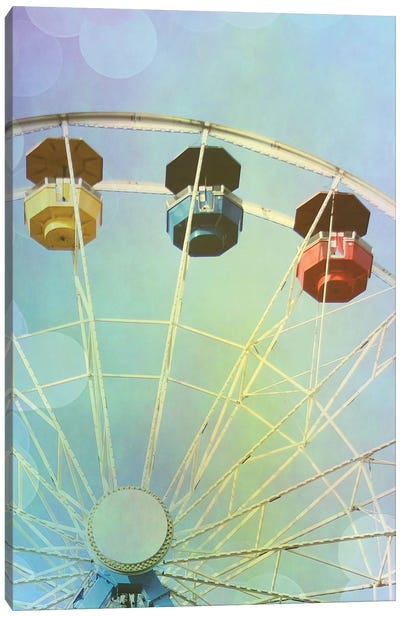 Rainbow Ferris Wheel IV Canvas Art Print