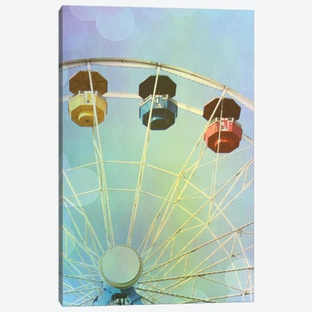 Rainbow Ferris Wheel IV 3-Piece Canvas #COO37} by Sylvia Coomes Canvas Art