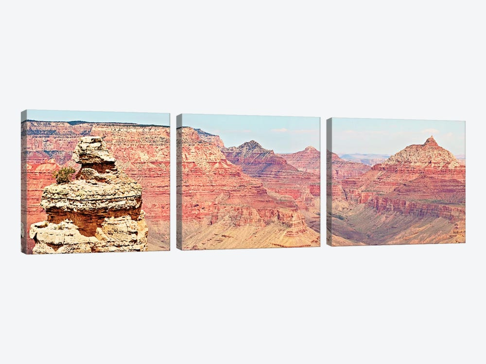 Grand Canyon Panorama VI by Sylvia Coomes 3-piece Canvas Art