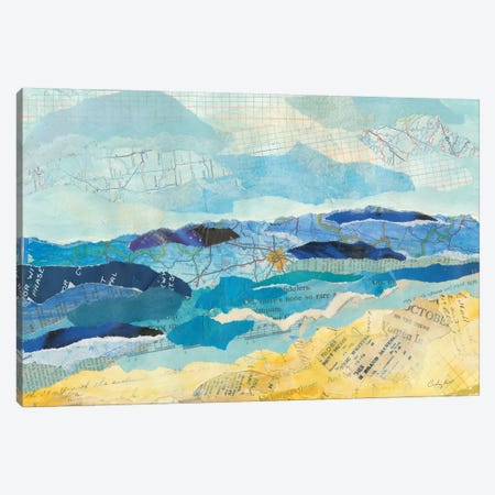 Abstract Coastal II Canvas Print #COP13} by Courtney Prahl Canvas Wall Art