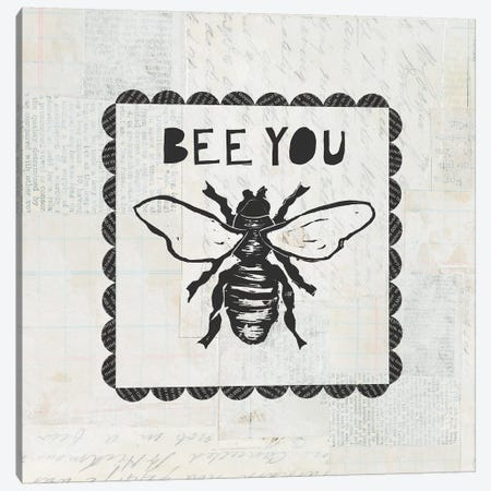 Bee Stamp Bee You Canvas Print #COP16} by Courtney Prahl Canvas Print