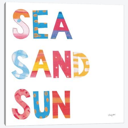 Sea Sand Sun IV Canvas Print #COP37} by Courtney Prahl Canvas Art Print