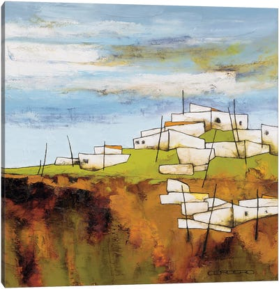 Peaceful Village I Canvas Art Print