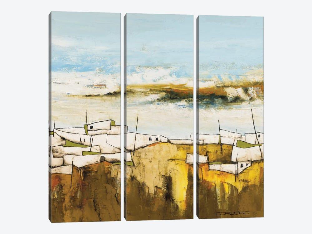 Peaceful Village II by Emiliana Cordaro 3-piece Canvas Art Print