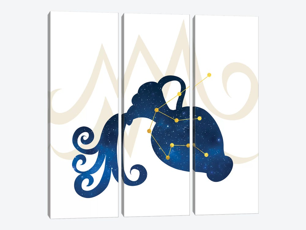 Stars of Aquarius by 5by5collective 3-piece Canvas Art Print