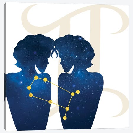 Stars of Gemini Canvas Print #COS5} by 5by5collective Canvas Art Print