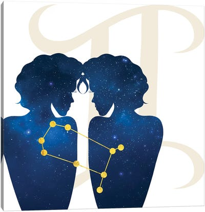 Stars of Gemini Canvas Art Print