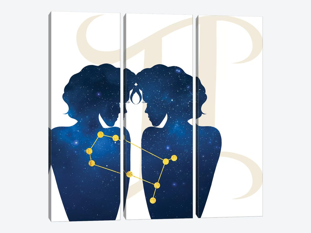 Stars of Gemini by 5by5collective 3-piece Canvas Print