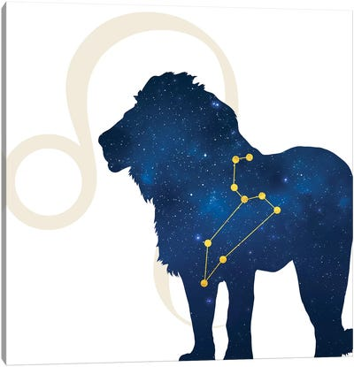 Stars of Leo Canvas Art Print