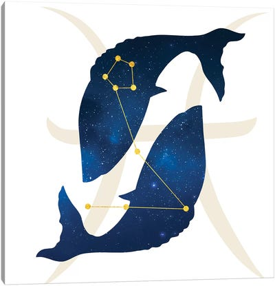 Stars of Pisces Canvas Art Print