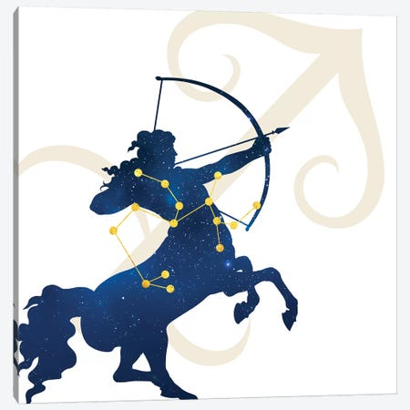 Stars of Sagittarius Canvas Print #COS9} by 5by5collective Canvas Artwork