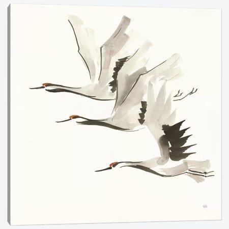Zen Cranes II Warm Canvas Print #CPA111} by Chris Paschke Canvas Art