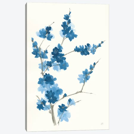 Blue Branch I Canvas Print #CPA112} by Chris Paschke Canvas Wall Art