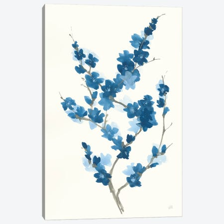 Blue Branch II Canvas Print #CPA113} by Chris Paschke Canvas Wall Art
