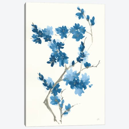 Blue Branch III Canvas Print #CPA114} by Chris Paschke Art Print
