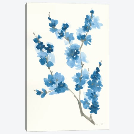 Blue Branch IV Canvas Print #CPA115} by Chris Paschke Canvas Art Print