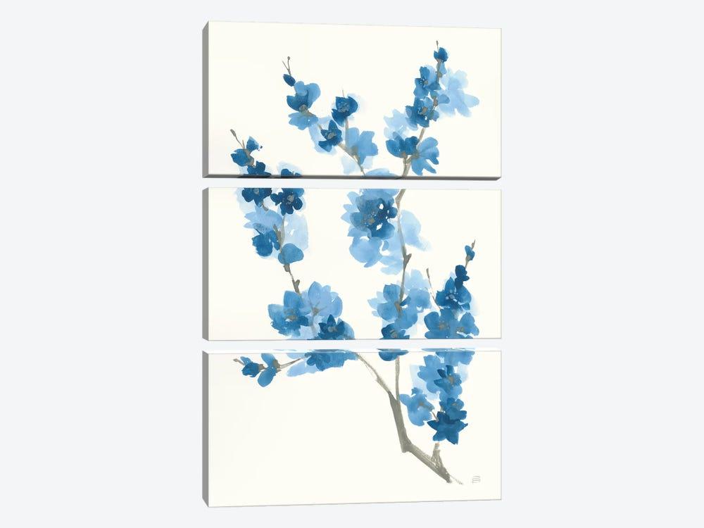 Blue Branch IV by Chris Paschke 3-piece Canvas Art