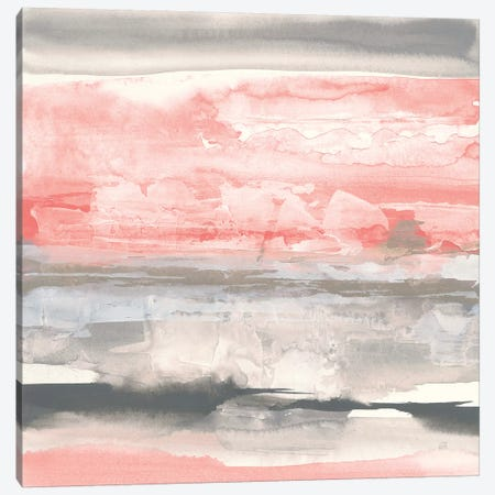 Charcoal and Coral II Canvas Print #CPA117} by Chris Paschke Canvas Art Print