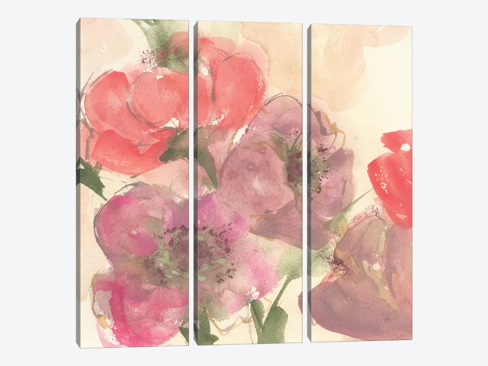 Coral Blooms II Dark Green by Chris Paschke 3-piece Canvas Art