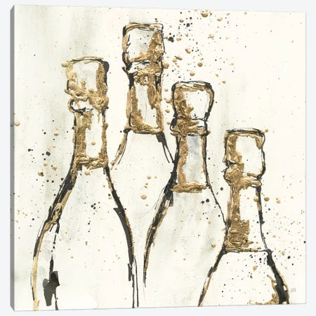 Champagne is Grand II Gold Canvas Print #CPA153} by Chris Paschke Canvas Art