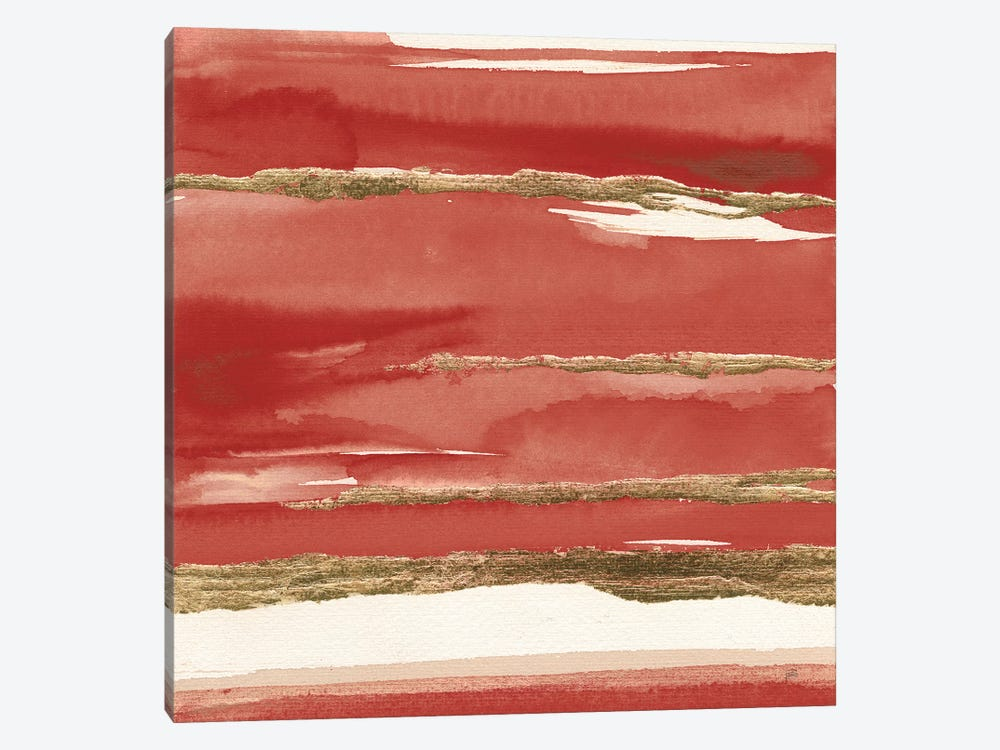 Gilded Red II by Chris Paschke 1-piece Canvas Artwork
