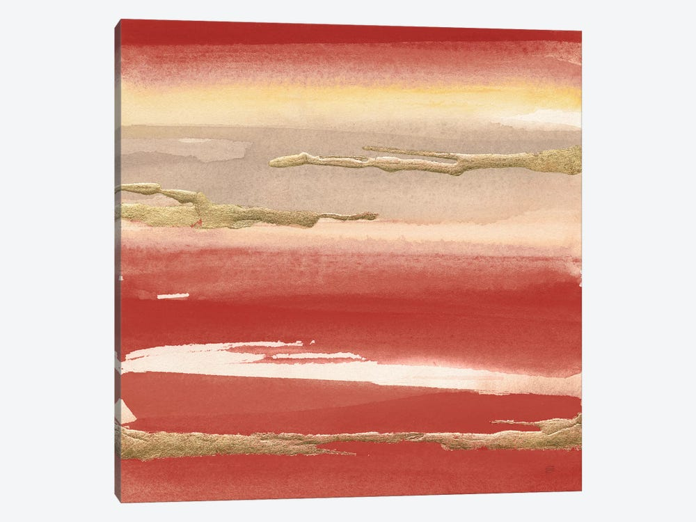 Gilded Red III by Chris Paschke 1-piece Canvas Art Print