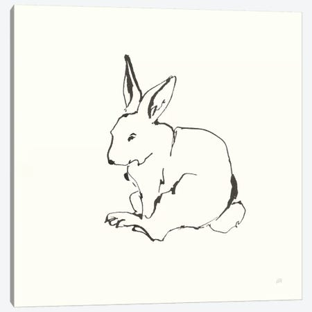 Line Bunny I Canvas Print #CPA166} by Chris Paschke Canvas Wall Art