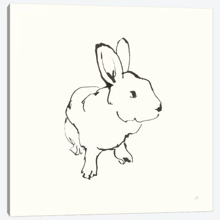 Line Bunny II Canvas Print #CPA167} by Chris Paschke Canvas Art