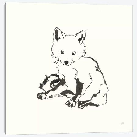 Line Fox Canvas Print #CPA169} by Chris Paschke Canvas Print