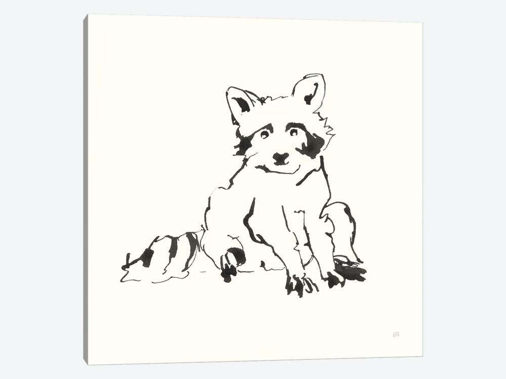 Line Raccoon by Chris Paschke 1-piece Art Print