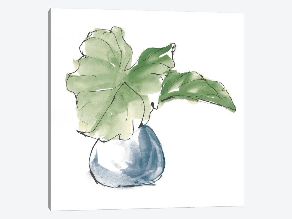 Plant Big Leaf I Dark Green by Chris Paschke 1-piece Canvas Art Print