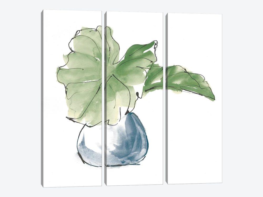 Plant Big Leaf I Dark Green by Chris Paschke 3-piece Art Print